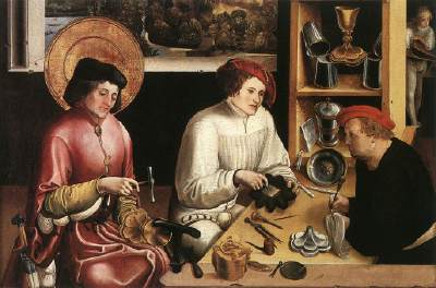 中世ルネサンス期のジュエリー工房
