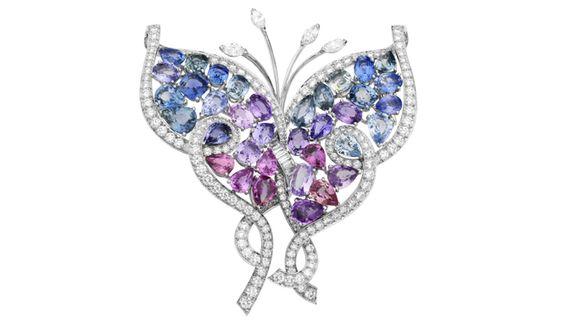 プラチナと色石とダイヤモンドの共演