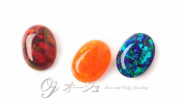 ファイヤ―オパールとブラックオパール