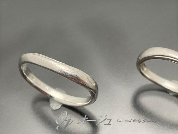 傷だらけになった結婚指輪
